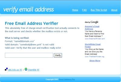 Verify Email Address (verify-email.org)